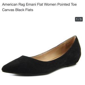 American Rag Emani Flat Pointed Toe  Black Flat